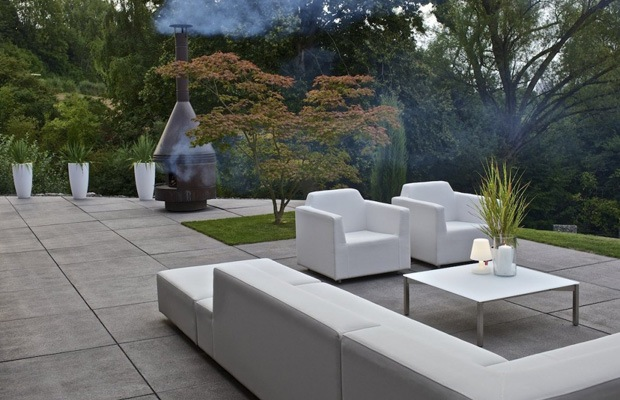 Terrasse en dalles de b ton exemples infos conseils de prix - Dalles clipsables pour terrasse ...