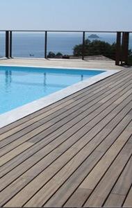 Lames de terrasse: Matériaux appropriés & Prix par m2