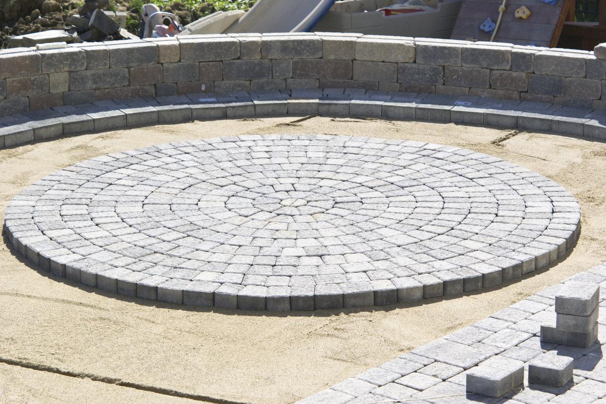 paves beton en cercle