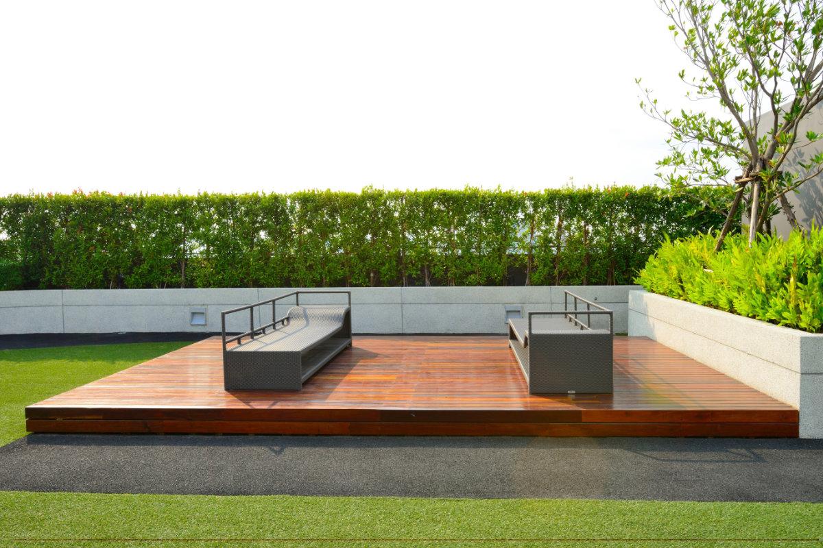 Terrasse en padouk: propriétés, entretien et prix