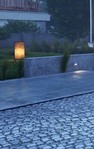 terrasse paves bleus