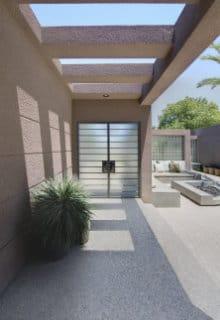 terrasse tapis pierre